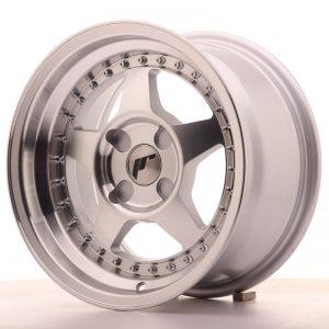 JR Wheels JR6 15x8 ET25 4H BLANK Silver Machined Face