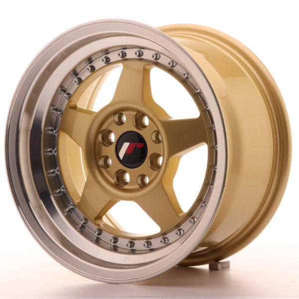 JR Wheels JR6 15x8 ET25 4x100/108 Gold w/Machined Lip