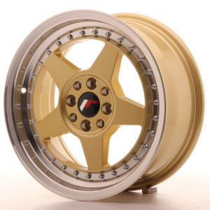JR Wheels JR6 16x7 ET35 4x100/114 Gold w/Machined Lip