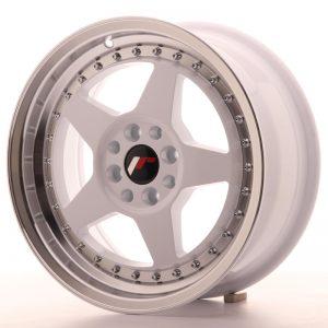 JR Wheels JR6 16x7 ET35 4x100/114 White w/Machined Lip