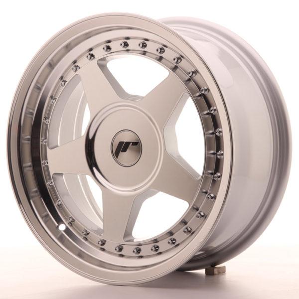 JR Wheels JR6 16x7 ET20-35 BLANK Silver Machined Face