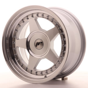 JR Wheels JR6 16x8 ET10-30 BLANK Silver Machined Face
