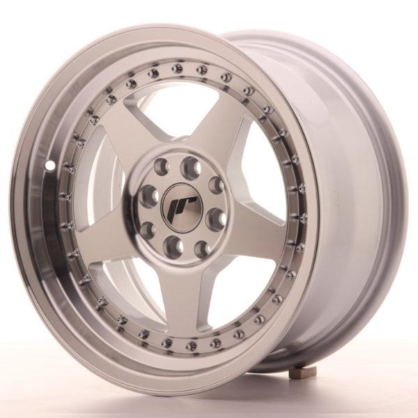 JR Wheels JR6 16x8 ET25 4x100/108 Silver Machined Face