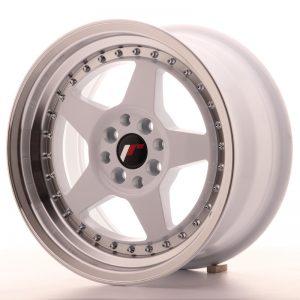 JR Wheels JR6 16x8 ET25 4x100/108 White w/Machined Lip