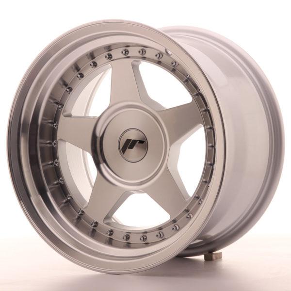 JR Wheels JR6 16x9 ET0-20 BLANK Silver Machined Face