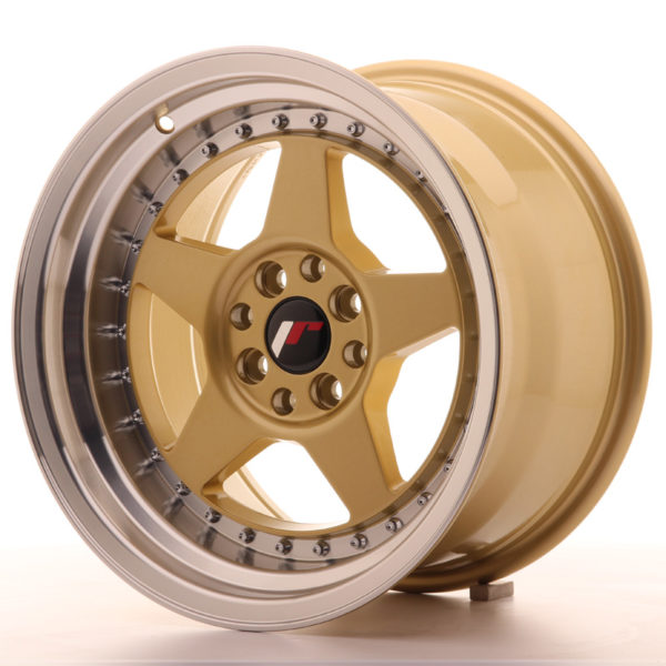 JR Wheels JR6 16x9 ET20 4x100/108 Gold w/Machined Lip