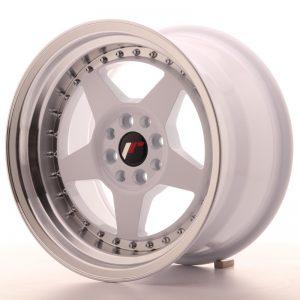 JR Wheels JR6 16x9 ET20 4x100/108 White w/Machined Lip
