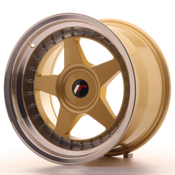 JR Wheels JR6 17x10 ET20 BLANK Gold w/Machined Lip