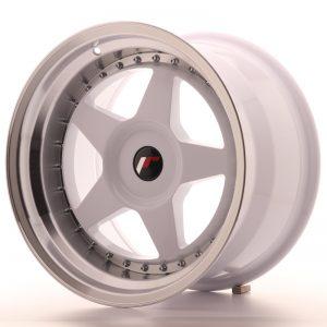 JR Wheels JR6 17x10 ET20 BLANK White w/Machined Lip
