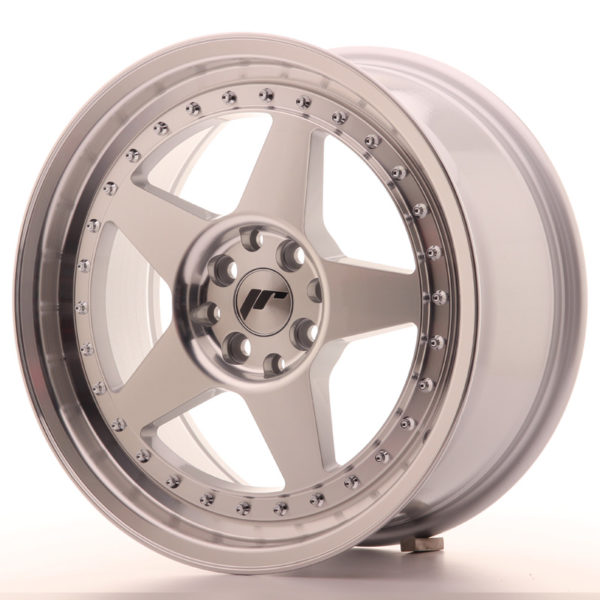 JR Wheels JR6 17x8 ET35 4x100/114 Silver Machined Face