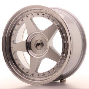 JR Wheels JR6 17x8 ET20-35 BLANK Silver Machined Face