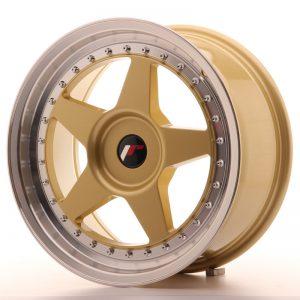 JR Wheels JR6 17x8 ET35 BLANK Gold w/Machined Lip