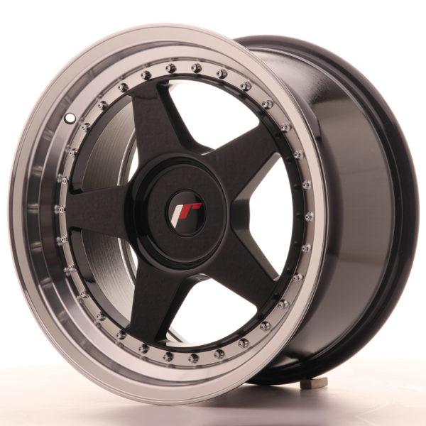 JR Wheels JR6 17x9 ET20-35 BLANK Gloss Black w/Machined