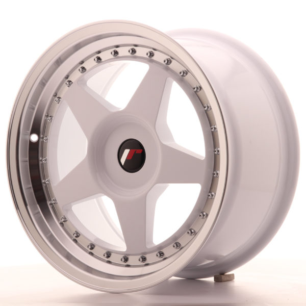 JR Wheels JR6 17x9 ET20-35 BLANK White w/Machined Lip