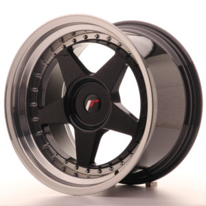 JR Wheels JR6 18x10,5 ET0-25 BLANK Gloss Black w/Machined