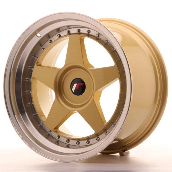 JR Wheels JR6 18x10,5 ET0-25 BLANK Gold w/Machined Lip