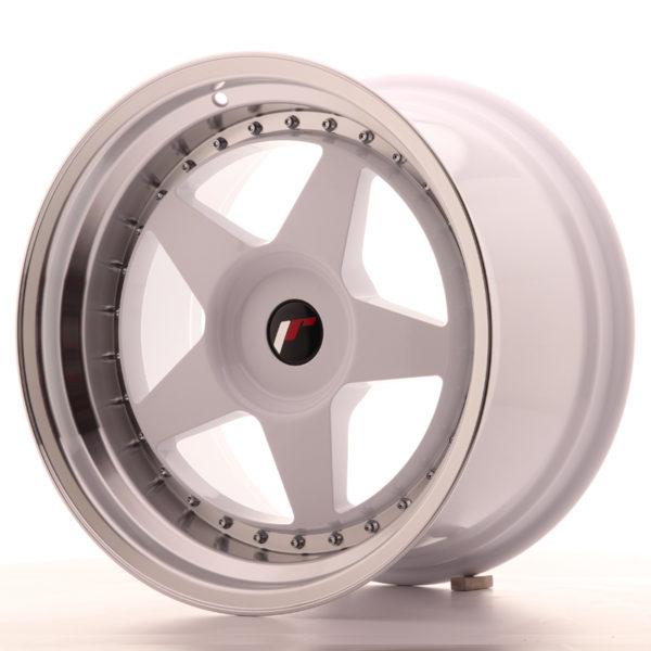 JR Wheels JR6 18x10,5 ET0-25 BLANK White w/Machined Lip