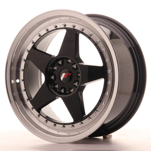 JR Wheels JR6 18x8,5 ET22 5x114,3/120 Gloss Black w/Machined