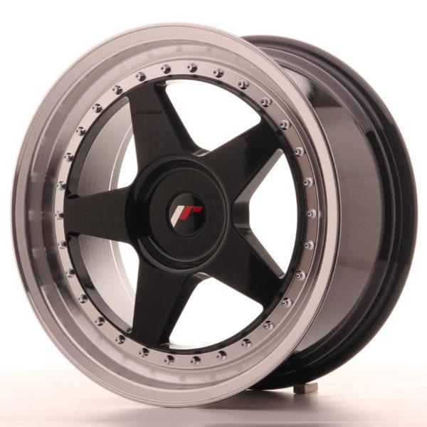 JR Wheels JR6 18x8,5 ET20-40 BLANK Gloss Black w/Machined