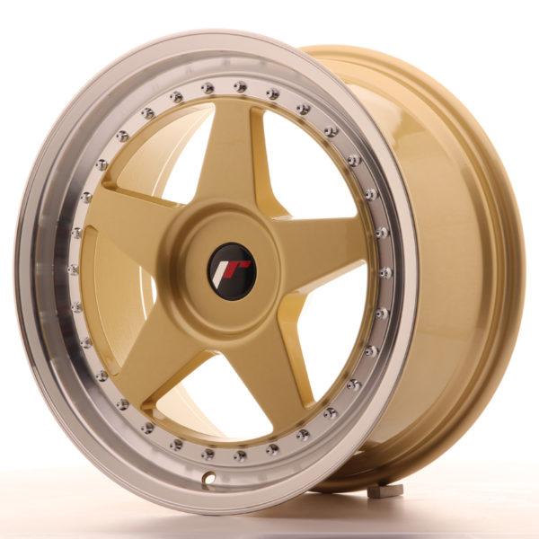 JR Wheels JR6 18x8,5 ET20-40 BLANK Gold w/Machined Lip