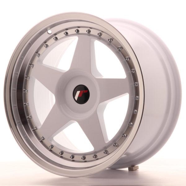 JR Wheels JR6 18x9,5 ET20-40 BLANK White w/Machined Lip