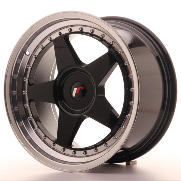 JR Wheels JR6 18x9,5 ET35-40 BLANK Gloss Black w/Machined