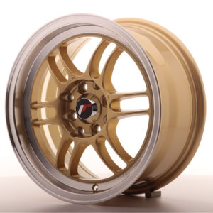 JR Wheels JR7 15x7 ET38 4x100/114 Gold w/Machined Lip