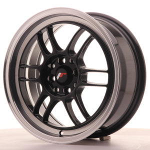 JR Wheels JR7 16x7 ET38 4x100/114 Gloss Black w/Machined Lip