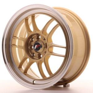 JR Wheels JR7 16x7 ET38 4x100/114 Gold w/Machined Lip