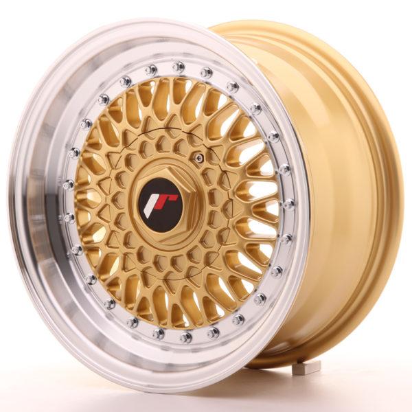 JR Wheels JR9 15x7 ET20 BLANK Gold w/Machined Lip