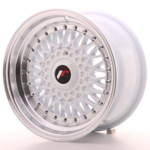 JR Wheels JR9 15x8 ET15 4x100/114 White w/Machined Lip