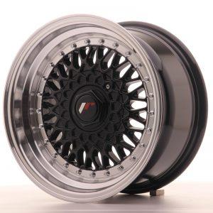 JR Wheels JR9 15x8 ET20 4x100/108 Gloss Black w/Machined Lip
