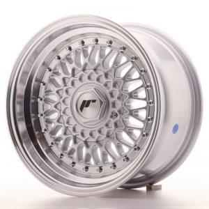 JR Wheels JR9 15x8 ET20 4x100/108 Silver w/Machined Lip+Silver Rivets