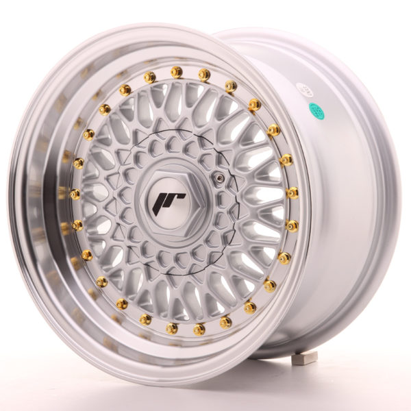 JR Wheels JR9 15x8 ET20 4x100/108 Silver w/Machined Lip