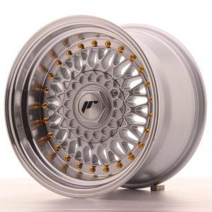 JR Wheels JR9 15x9 ET10 BLANK Silver w/Machined Lip