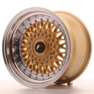 JR Wheels JR9 15x9 ET10 4x100/108 Gold w/Machined Lip