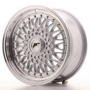 JR Wheels JR9 16x7,5 ET25 4x100/108 Silver w/Machined Lip+Silver Rivets