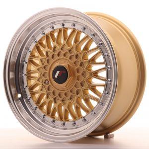 JR Wheels JR9 16x7,5 ET25 BLANK Gold w/Machined Lip