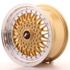 JR Wheels JR9 16x8 ET25 BLANK Gold w/Machined Lip