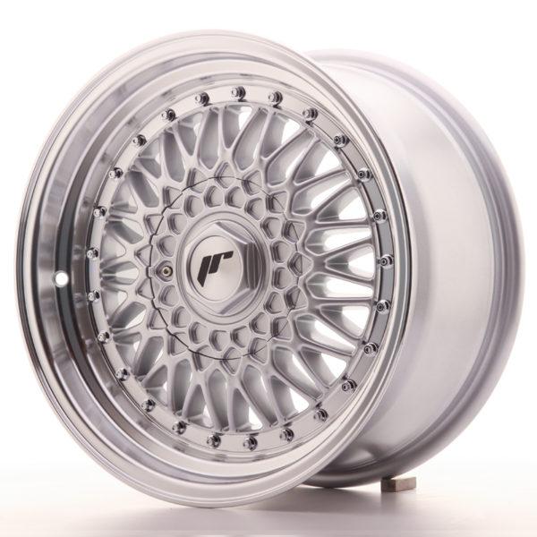 JR Wheels JR9 16x8 ET25 4x100/108 Silver w/Machined Lip+Silver Rivets