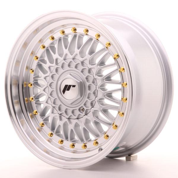 JR Wheels JR9 16x8 ET25 4x100/108 Silver w/Machined Lip