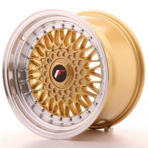 JR Wheels JR9 16x9 ET20 BLANK Gold w/Machined Lip