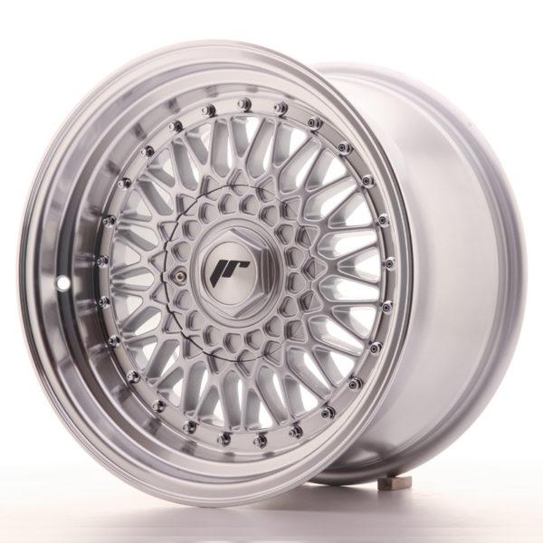 JR Wheels JR9 16x9 ET20 4x100/108 Silver w/Machined Lip+Silver Rivets