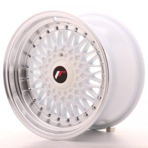 JR Wheels JR9 16x9 ET20 4x100/108 White w/Machined Lip