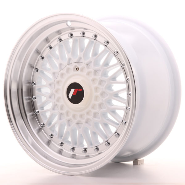 JR Wheels JR9 16x9 ET20 4x100/108 White w/Machined Lip