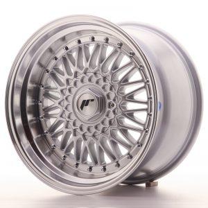 JR Wheels JR9 17x10 ET20 5x112/120 Silver w/Machined Lip+Silver Rivets