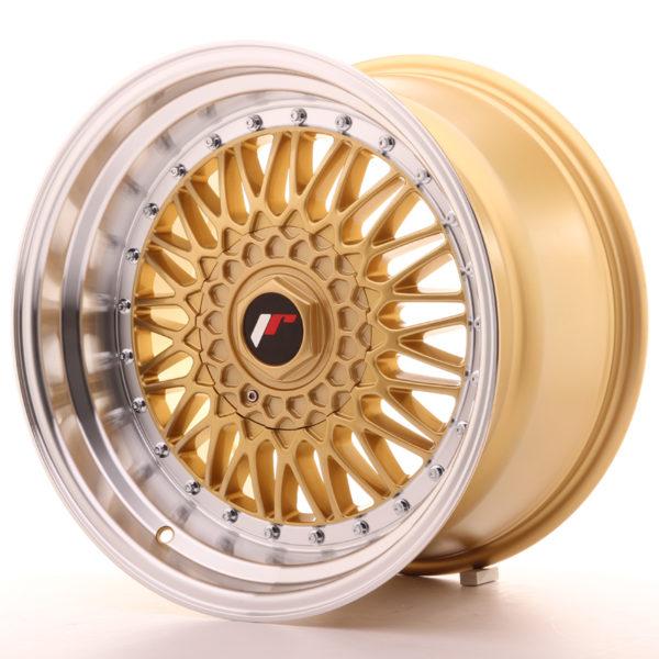 JR Wheels JR9 17x10 ET20 BLANK Gold w/Machined Lip