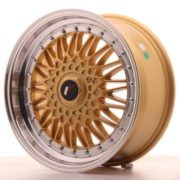 JR Wheels JR9 17x7,5 ET20 BLANK Gold w/Machined Lip