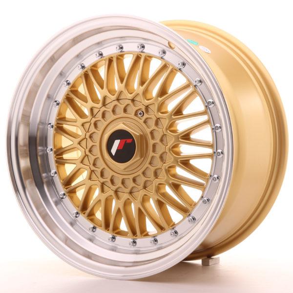 JR Wheels JR9 17x8,5 ET20-35 BLANK Gold w/Machined Lip
