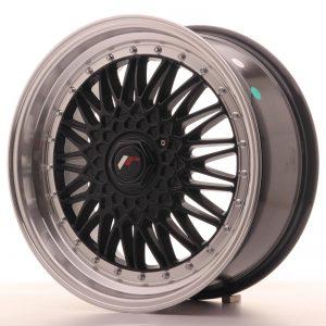 JR Wheels JR9 18x8 ET35-40 BLANK Gloss Black w/Machined Lip